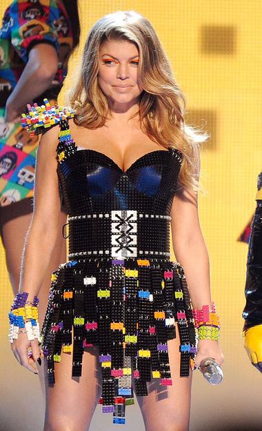 Fergie in Lego dress